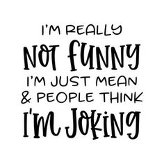 Silhouette Design Store: I'm Really Not Funny Cricut Craft Room, Cricut Vinyl, Silhouette Cameo Projects, Silhouette Design, Sign Quotes, Funny Quotes, Design Mandala, Cricut Tutorials, Cricut Ideas