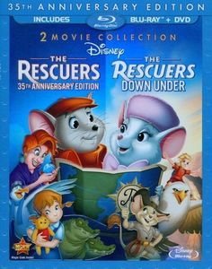 Rescuers: 35th Anniversary Edition/The Rescuers Down Under [3 Discs] [Blu-ray/DVD] - Front_Standard