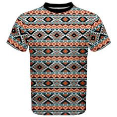 Colorful Colorful Navajo Pattern Men's Sport Mesh Tee Navajo Pattern, Plus Size Shirts, Brand Me, Aztec, Men Casual, Man Shop, Tees, Fabric, Mens Tops
