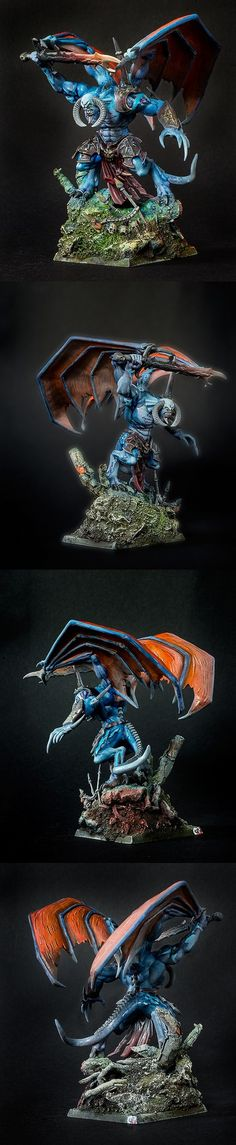 The Internet's largest gallery of painted miniatures, with a large repository of how-to articles on miniature painting Figurine Warhammer, Warhammer 40k Art, Warhammer Fantasy, Thousand Sons, War Hammer, Fantasy Miniatures, Space Marine, War Machine, Figs