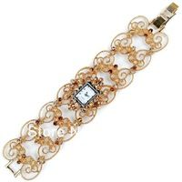bracelet watch free shipping High quality antique gold alloy crystal diamond ladies Ladies Quartz Wrist watch adjustable Band