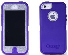 SALE 10% OFF OTTERBOX iPhone 5 Case Custom Glitter Purple/Silver Sparkly Defender Series Case Cover iPhone 5 Otterbox on Etsy, $54.99