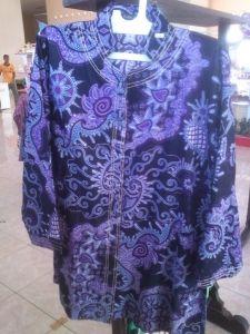 Jual Batik Wanita Elegan Biru | Toko Online Batik Kendal | Jual Batik Berkualitas | Toko Batik