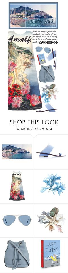 """""""Pack and Go: Amalfi"""" by rasaj ❤ liked on Polyvore featuring Gray Malin, Abcense, Dolce&Gabbana, Ray-Ban, Marc Jacobs and Assouline Publishing"""