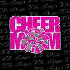 Cheer Mom - Pom Pom - Vector - SVG File by TCTeeDesigns on Etsy