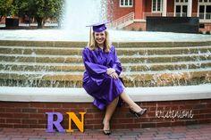 cap & gown, graduation photography, nursing graduation