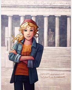 """She was standing in front of the Lincoln memorial, with her arms crossed, looking extremely pleased with herself, like she'd personally designed the place"""