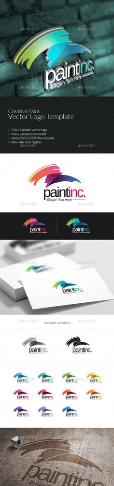 Creative Paint Logo Template Vector EPS #design #logotype Download: http://graphicriver.net/item/creative-paint-logo/10383422?ref=ksioks