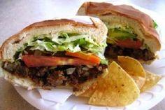 Tortas De Carne Asada! Delicious steak sandwiches. http://www.yummly.com/recipe/Tortas-De-Carne-Asada---Grilled-Steak-Sandwiches-Food_com-169191
