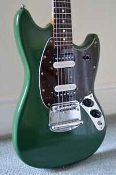 Custom #Fender Mustang | marchwood guitars - amazing colour!