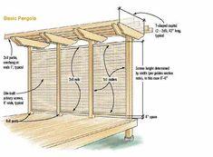 a Pergola with a privacy screen Petite Pergola, Small Pergola, Pergola Attached To House, Pergola Swing, Deck With Pergola, Metal Pergola, Cheap Pergola, Wooden Pergola, Covered Pergola