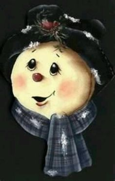 Sweet Snow-lady's face with a rose accenting her black hat. [Reminds me a little of Eliza Doolittle.]