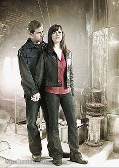 Kai Owen and Eve Myles