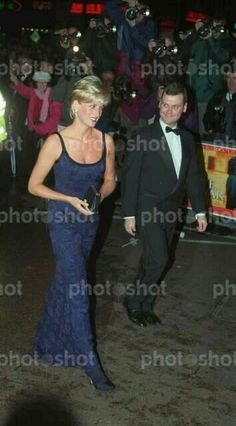 Diana, Princess of Wales arriving for the London premiere of 'In Love and War' at the Odeon Leicester Square, 12th February 1997.