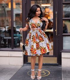 Elegant Ankara Gowns Of 2019 Short African Dresses, Latest African Fashion Dresses, African Print Dresses, African Print Fashion, Ankara Dress Designs, Ankara Gown Styles, Dress Styles, Best African Dress Designs, Casual Styles