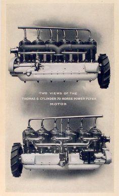 1909 Thomas 6 Cylinder 70 HP Flyer Motor