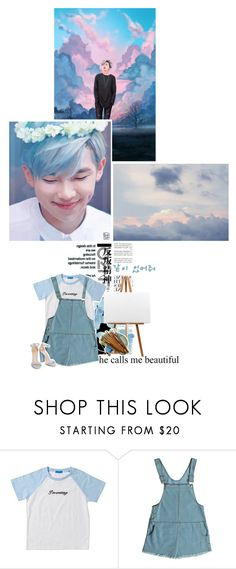 """Desire for art feat Kim Namjoon"" by luminoussuga ❤ liked on Polyvore featuring Somedays Lovin and EASEL"