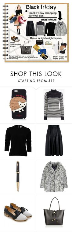 """""""What to Wear: Black Friday Shopping"""" by affton ❤ liked on Polyvore featuring Kate Spade, Yigal AzrouÃ«l, Oscar de la Renta, Pink Tartan, Parker, Michael Kors and CO"""