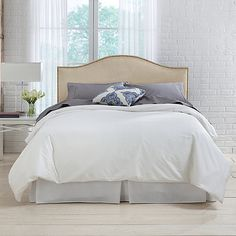 70ef5b5d4449 BED, BATH & BEYOND ~ Skyline Furniture Hinsdale Headboard with Premier Fabric  Upholstery Tide