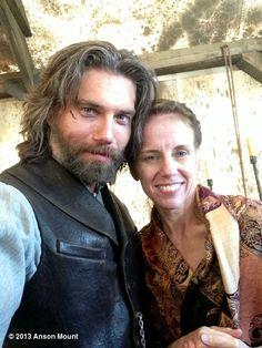 Anson Mount's photo: Me and sis on set yesterday. @Kristin Mount @hellonwheelsAMC