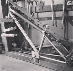 Bicycle frame jig from arc lite bikes