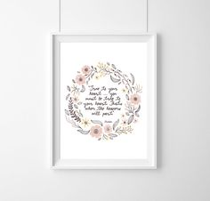 quote Disney MulanTrue to your heartQuote by WeJustLikePrints