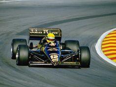 Ayrton Senna in his Lotus 97T during the 1985 season