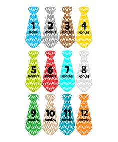 Love this Chevron Tie Collection Iron Transfer Set by Month 2 Month Baby on #zulily! #zulilyfinds