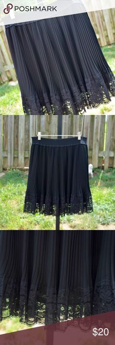 NWT Adorable black pleated and lace skirt Never worn/NWT black pleated and lace skirt by Buffalo by David Bitton. Not much else to say except this is so cute, a little classy, and a little edgy. Elastic waistband. Size medium. Buffalo David Bitton Skirts Mini