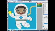 Illustrating drawing painting - how to draw cartoon cosmonaut