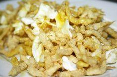 """Restaurante JJ - Chanquetes con huevos """"estrellaos"""" (más en: www.comerconlosojos.com)"""
