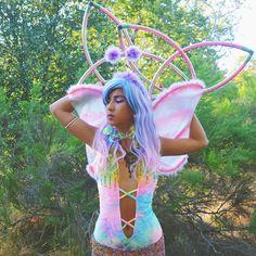 Faereality ✨ fairy rave outfit by #littleblackdiamond