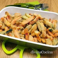 Con esta receta de bastones de verdura fritos resulta un entrante perfecto para compartir, muy resultón y sabroso.