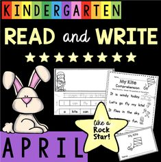 I am so excited about my new Read and Write like a Rock Star program! I get asked a lot about how to tie reading and writing together, while focusing on fluency, comprehension, phonics, vocabulary, writing, etc. I'm making it easy for you with my new monthly packs!  I tell my kiddos that I want them to read and write like rock stars and they get all jazzed up! Reading and writing go hand in hand.  Writing is SO important in kindergarten, as it is in all grades! A few tricks I have learned is…