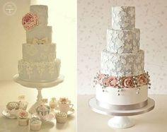 arrastrando azúcar pasteles flores de la boda por el algodón y Crumbs a izquierda y derecha de Rachelle