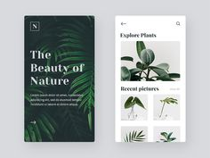 The Beauty of Nature App Design – Robin Klaiss The Beauty of Nature App Design Connect with this designer on Dribbble, the best place for to designers gain inspiration, feedback, community, and jobs worldwide. Mobile Ui Design, App Ui Design, Web Design Trends, Blog Design, Branding Design, Design Design, Design Thinking, Webdesign Inspiration, Layout