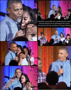 One #Year Ago #Today   44thPresident #BarackObama During The Closing Of The #Final 4th Of #July 2016 Celebration For #Military #Families At The #WhiteHouse On Stage With #KendrickLamar & #JanelleMonae Sings #Happy #18th #Birthday To His #Daughter MaliaObama As She Came On Stage #ObamaFamily #HappyBirthday #ObamaLegacy #ObamaHistory #ObamaLibrary #ObamaFoundation Obama.org