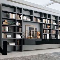 Bookshelves Decorating Ideas for Living Room Book Shelf Decorating Idea & Tip Bookshelves Decorating Ideas for Living Room. If you have bookshelves in your home, and lots of books, you've… Bookshelves In Living Room, Wall Bookshelves, Bookshelf Design, Room Shelves, Bookcases, Floor To Ceiling Bookshelves, Modern Bookcase, Living Rooms, Living Room Designs