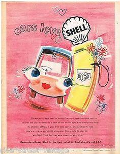 SHELL AD PETROL OIL ICA  AUSTRALIAN Vintage Advertising 1960 Original Advert