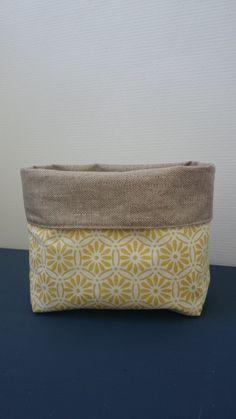 Vide-poches/ pochette tissu coton et toile enduite : Meubles et rangements par elima-elima