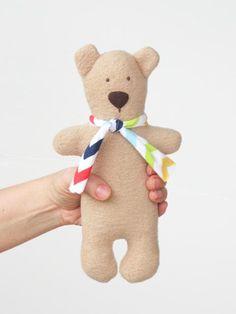 6878b316f3e Items similar to Teddy Bear soft stuffed bear toy cuddly softie plush bear  doll personalized toy - gift for kids