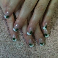 Multi colored gel tips with gold glitter accent a touch for A touch of heaven salon