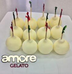 Amore Kisses - Tangy Lemon sorbet dipped in decadent white chocolate