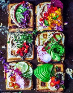 She keeps a plant-based diet, favoring breakfasts like this these rainbow waffle…