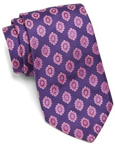 Ted Baker London Medallion Silk Tie on shopstyle.com.au The price on this is.... ouch. If you really wanted a purple patterned tie there would probably be one in your local op shop.