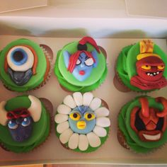 Skylander Cupcakes Our Cupcakes and Cake Pops Pinterest