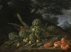 Luis Meléndez, Still Life with Artichokes and Tomatoes in a Landscape, circa 1771–74, oil on canvas, 24 1/2 x 32 1/2 in., Mrs. Lila Shickman, image © The Metropolitan Museum of Art.  // Luis Meléndez (1716–1780) was the greatest still life painter of eighteenth-century Spain and ranks as one of the greatest painters of the genre in all Europe.