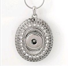 Snap Bouton Collier Magnétique Pendentif Femmes Bijoux 18 mm Shine Collier Chaîne Pour