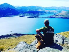 This is one of my favorite photos. Hanging with my best friend on a warm summers day. #puppylove #queenstown