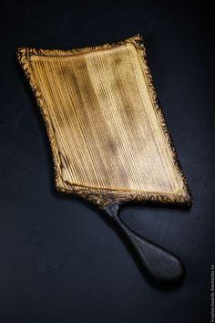 Купить Разделочная доска Жженый Ясень - черный, массив ясеня, разделочная доска, сервировка